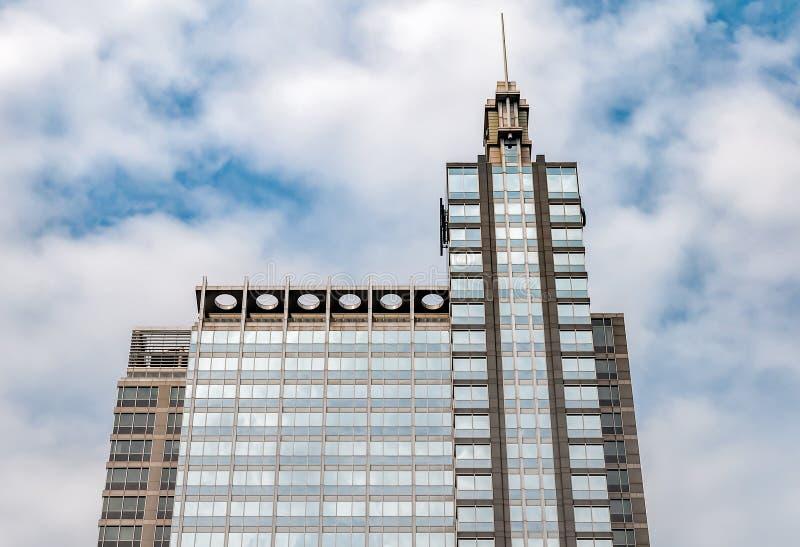 Vista da construção de Boeing em Chicago, Illinois imagens de stock