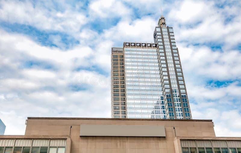 Vista da construção de Boeing em Chicago, Illinois foto de stock