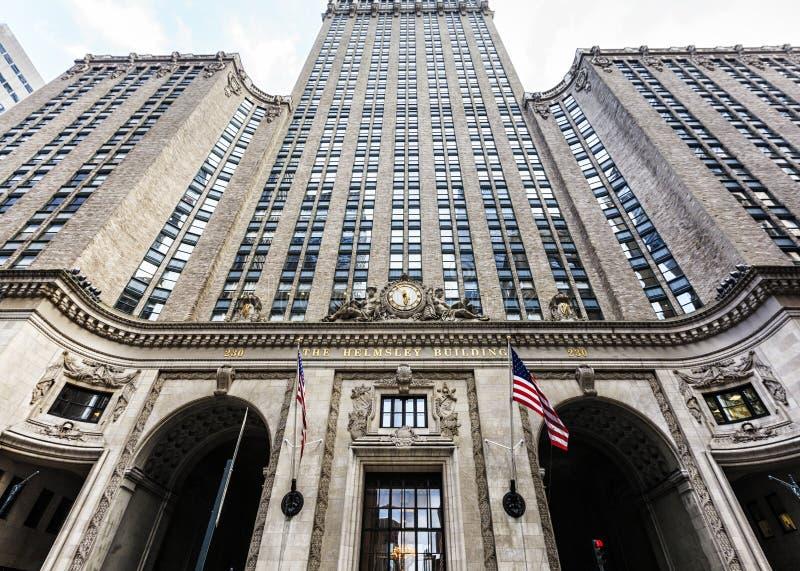 Vista da construção de Helmsley em New York imagem de stock