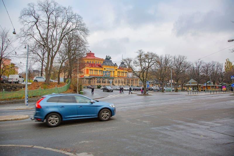 Vista da construção do circo em Éstocolmo, Suécia, Europa 11 de novembro de 2018 fotos de stock royalty free