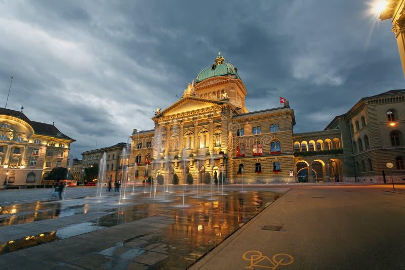 O parlamento suíço fotografia de stock