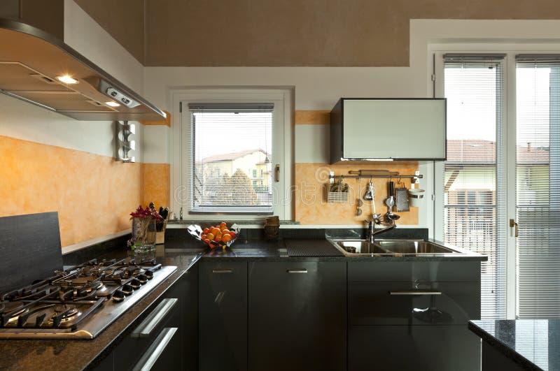 Vista da cozinha fotografia de stock royalty free