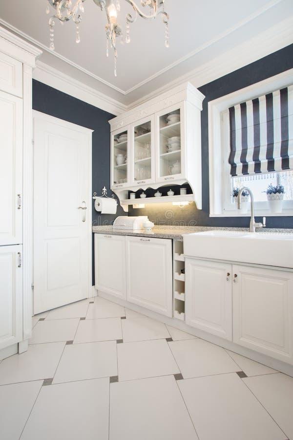 Vista da cozinha imagens de stock