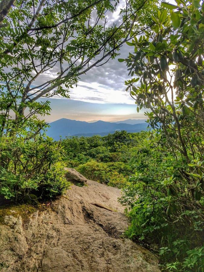 Vista da Craggy Mountain in North Carolina immagini stock