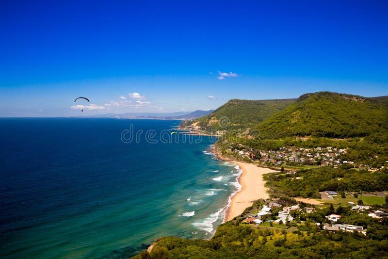 Vista da cume do litoral fotografia de stock