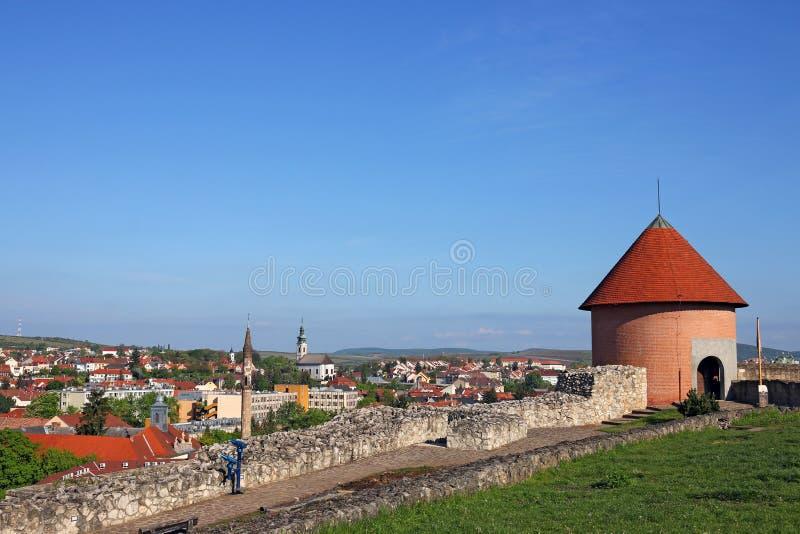 Vista da fortaleza de Eger fotos de stock royalty free