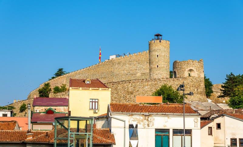 Vista da fortaleza de Skopje fotos de stock royalty free
