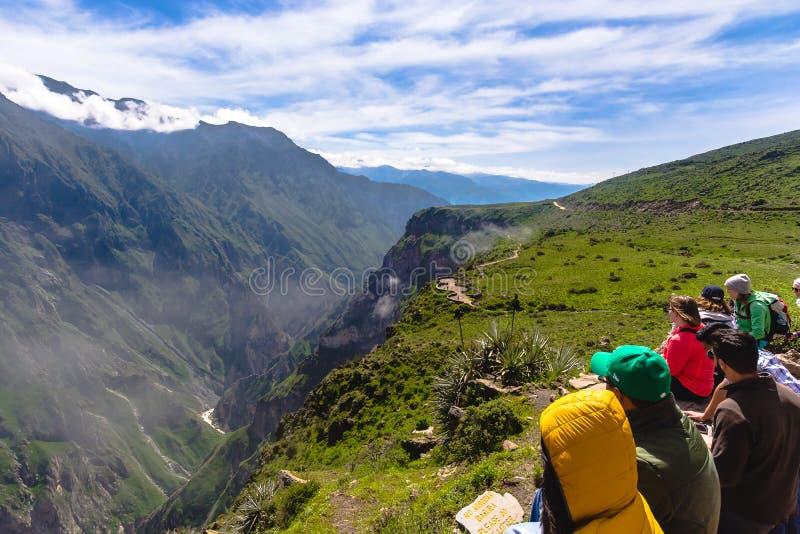 Vista da garganta de Colca, Peru imagens de stock royalty free