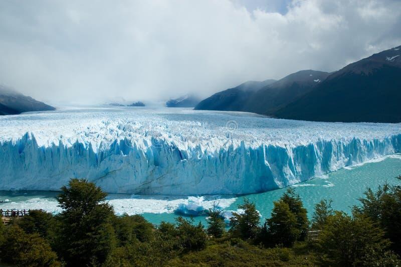 Vista da geleira magnífica de Moreno, Argentina. foto de stock