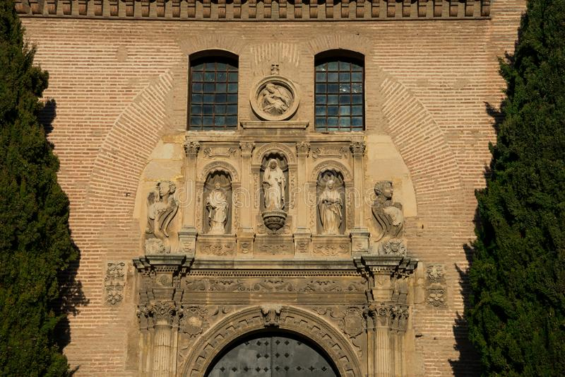 Vista da igreja de San Gil y Santa Ana imagem de stock royalty free