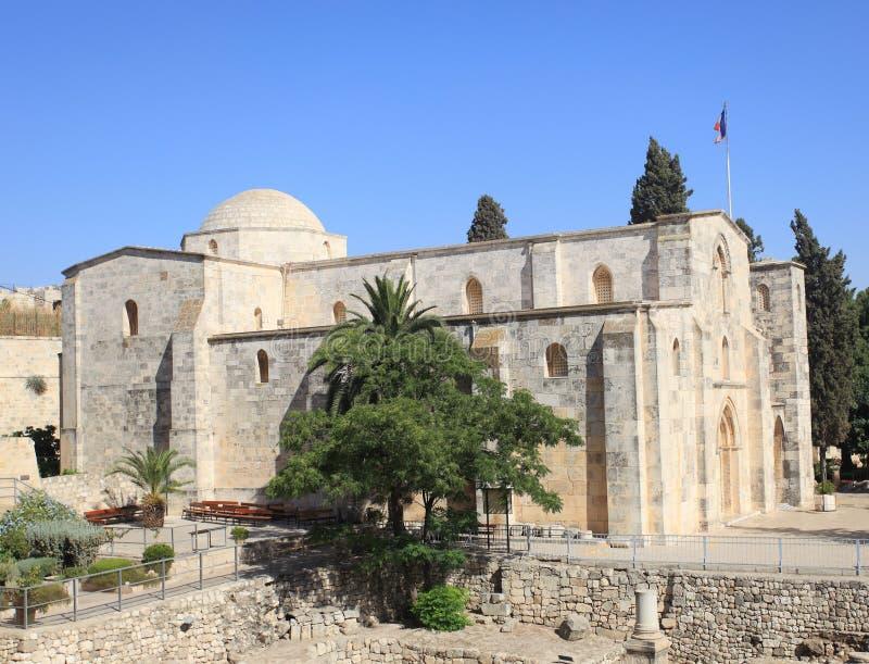 Vista da igreja de St Anne, Jerusalém imagens de stock royalty free