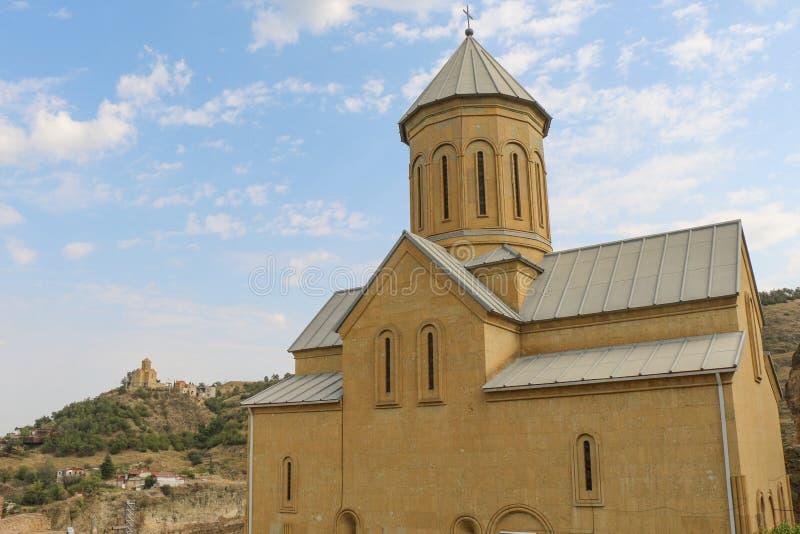 Vista da igreja do St Nikolas imagens de stock