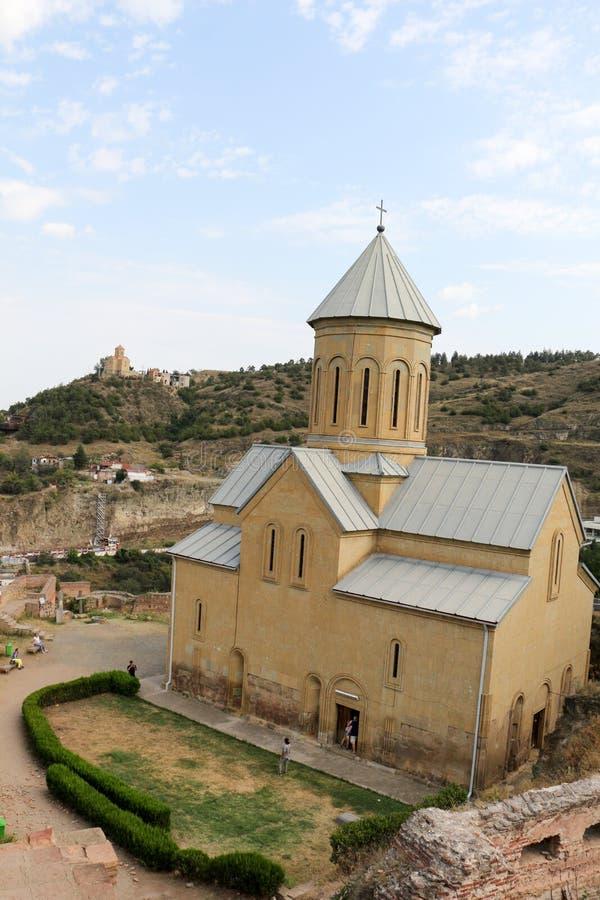 Vista da igreja do St Nikolas fotografia de stock