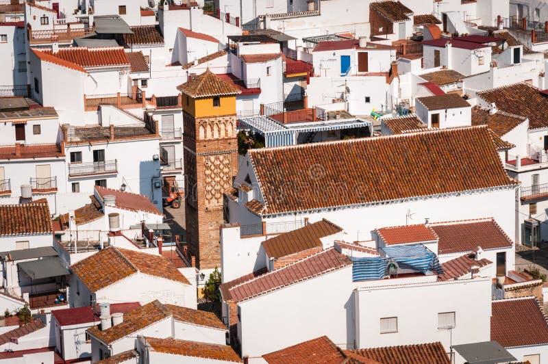 Vista da igreja em Archez, Malaga, Espanha imagens de stock