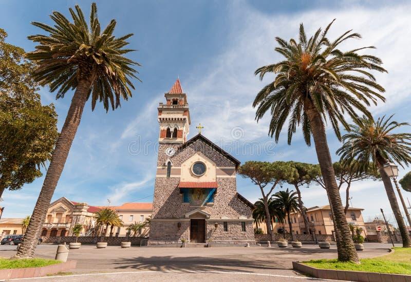 Sardinia, Arborea, igreja de Cristo Redentore imagem de stock