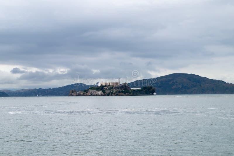 Vista da ilha de Alcatraz fotos de stock royalty free