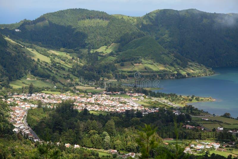 Vista da ilha de São Miguel, Açores, Portugal Viagens fotos de stock