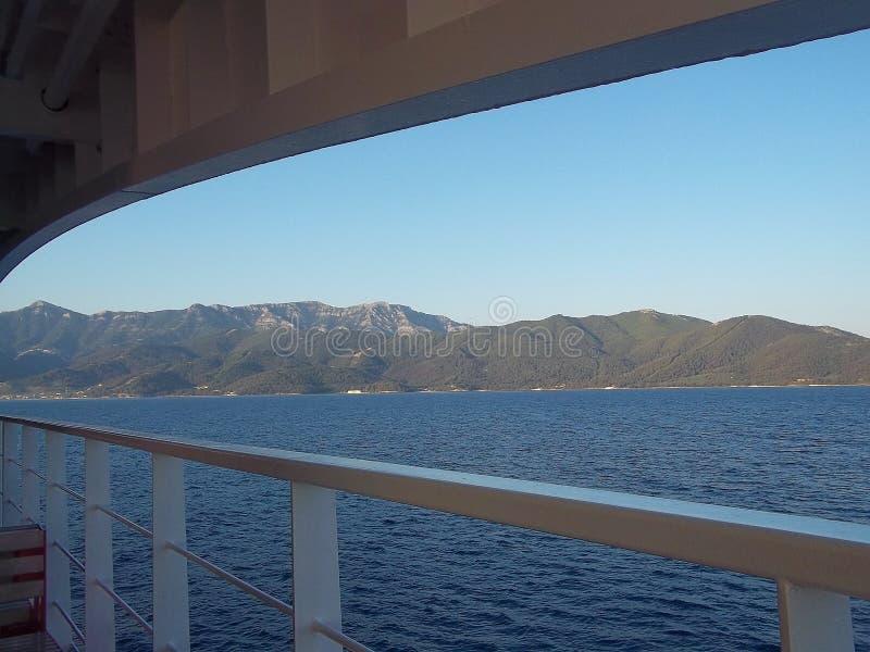 Vista da ilha do navio, balsa foto de stock