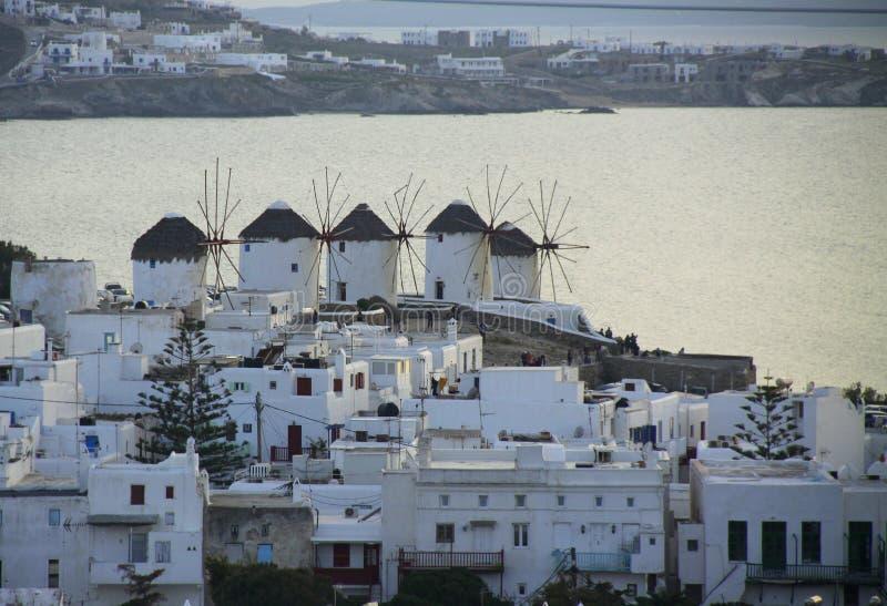 Vista da ilha grega velha imagens de stock royalty free