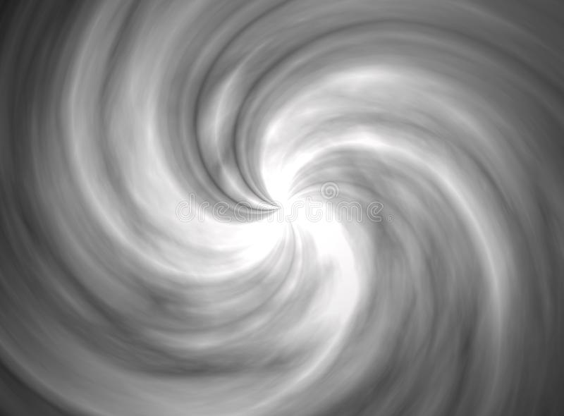 Vista da ilustração artística 3d do ciclone preto e branco fotografia de stock
