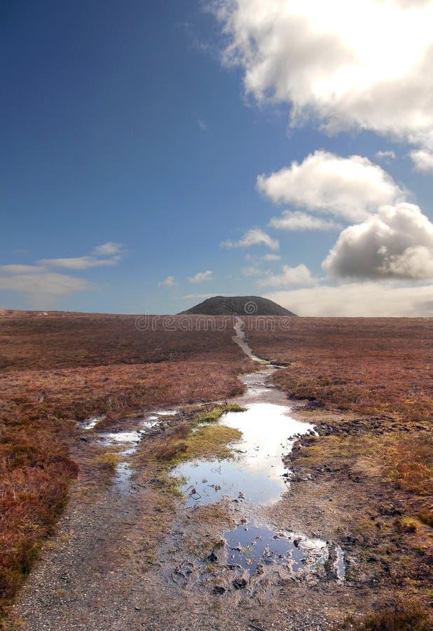 Vista da Irlanda de Knocknarea Sligo após a tempestade foto de stock