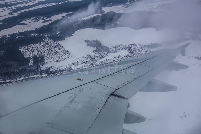 Vista da janela de um plano de voo fotos de stock royalty free