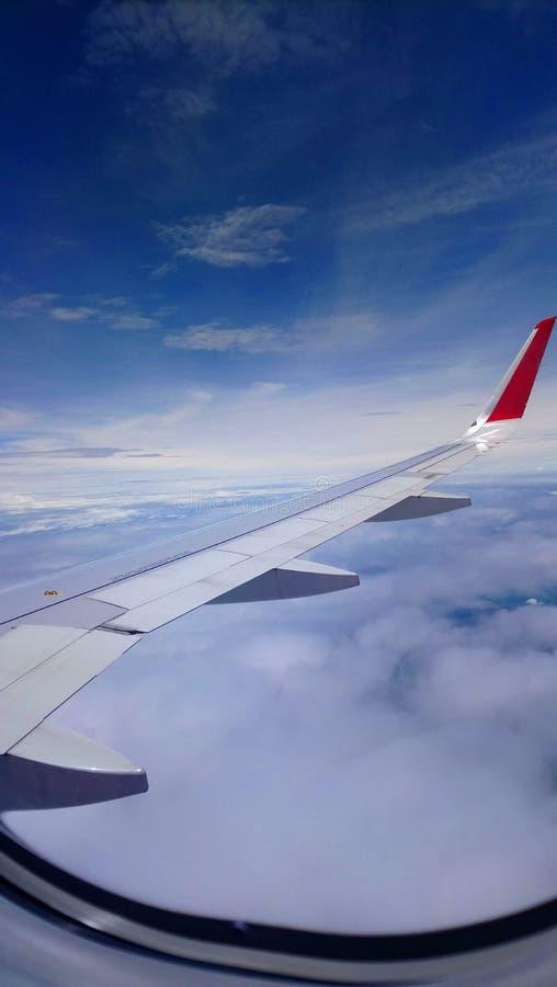 Vista da janela do avião do voo fotos de stock royalty free