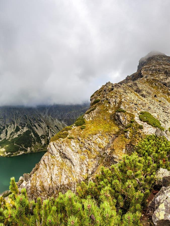 Vista da Krab in montagne di Tatra, Polonia, Europa immagine stock libera da diritti