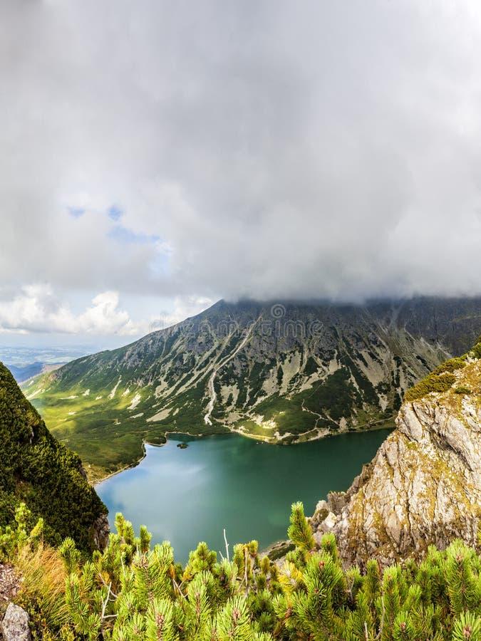 Vista da Krab in montagne di Tatra, Polonia, Europa fotografia stock