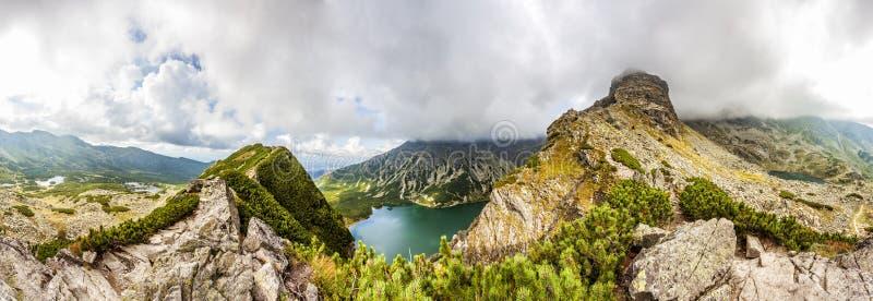 Vista da Krab in montagne di Tatra, Polonia, Europa un panorama di 360 gradi immagini stock libere da diritti