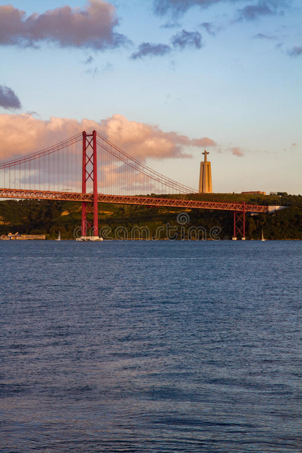 vista da Lisbona immagine stock libera da diritti