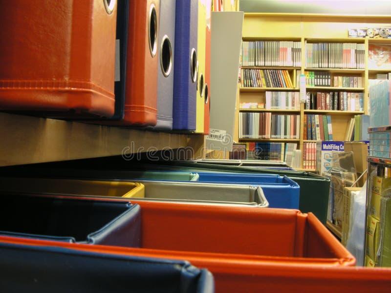 Vista da loja dos artigos de papelaria fotos de stock