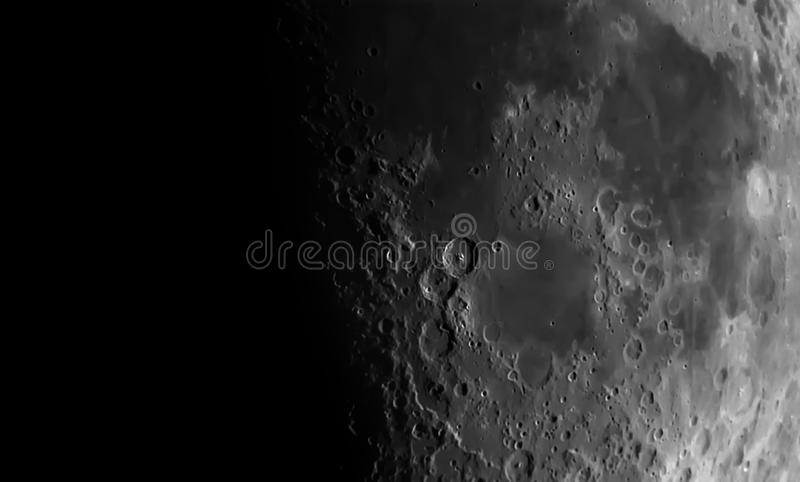 Vista da lua fotografia de stock