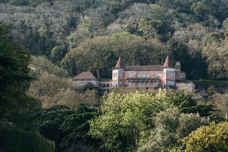 Vista da mansão velha fotografia de stock royalty free
