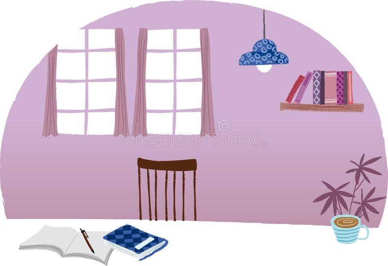 A vista da mesa ilustração stock