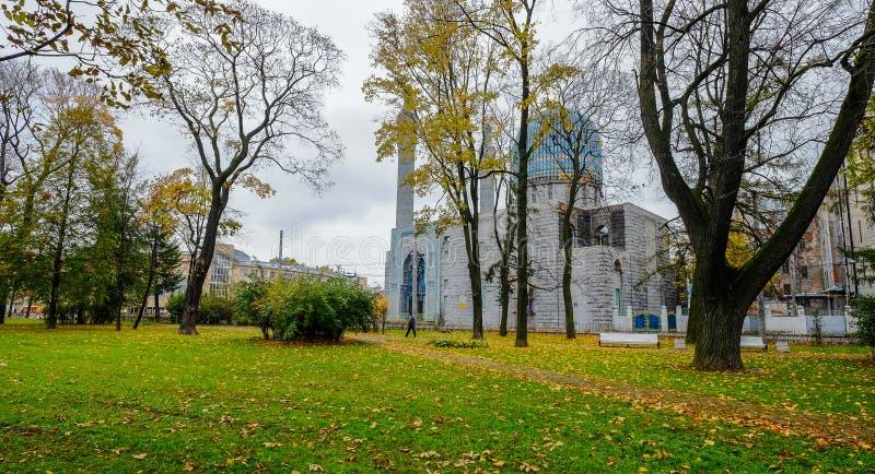 Vista da mesquita de St Petersburg imagem de stock