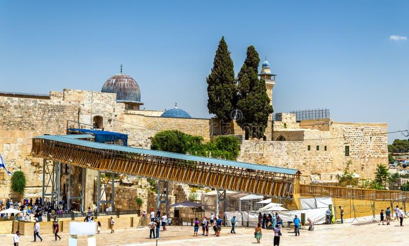 Vista da mesquita do al-Aqsa no Jerusalém imagens de stock