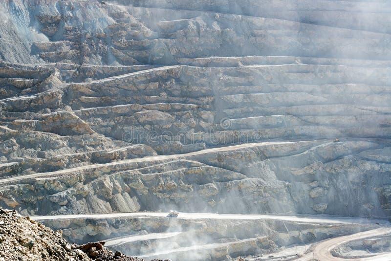 Vista da mina de cobre de Chuquicamata imagem de stock