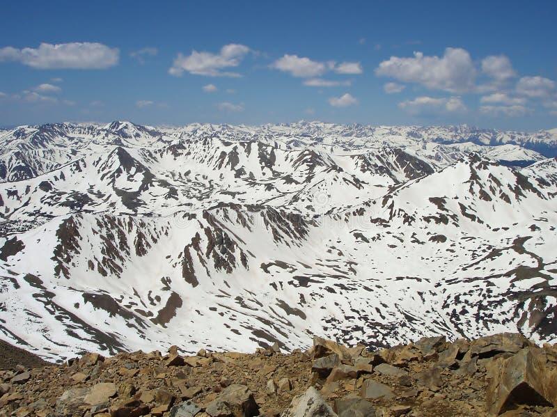 Vista da montagem Elbert Summit imagem de stock royalty free
