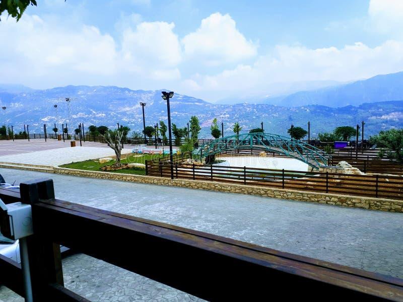 Vista da montagem Líbano imagens de stock