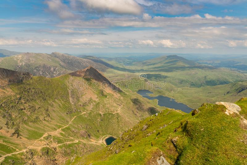 Vista da montagem Snowdon, Gales, Reino Unido imagem de stock royalty free