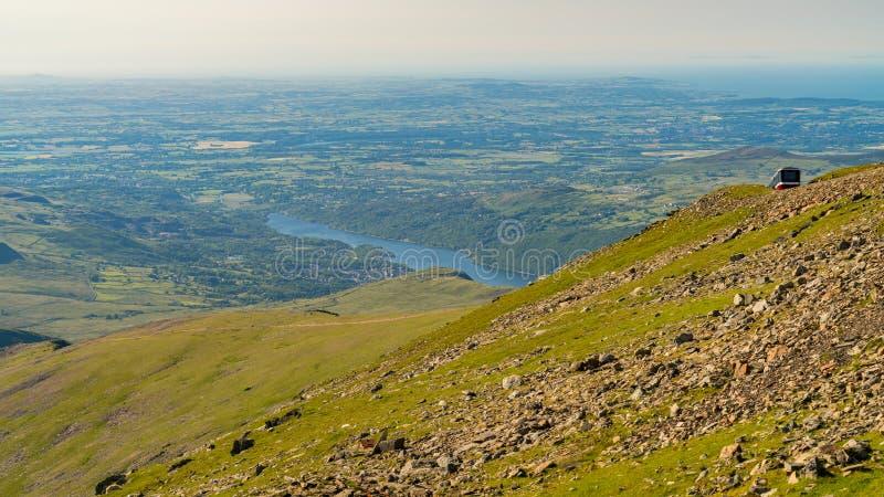 Vista da montagem Snowdon, Gales, Reino Unido imagens de stock