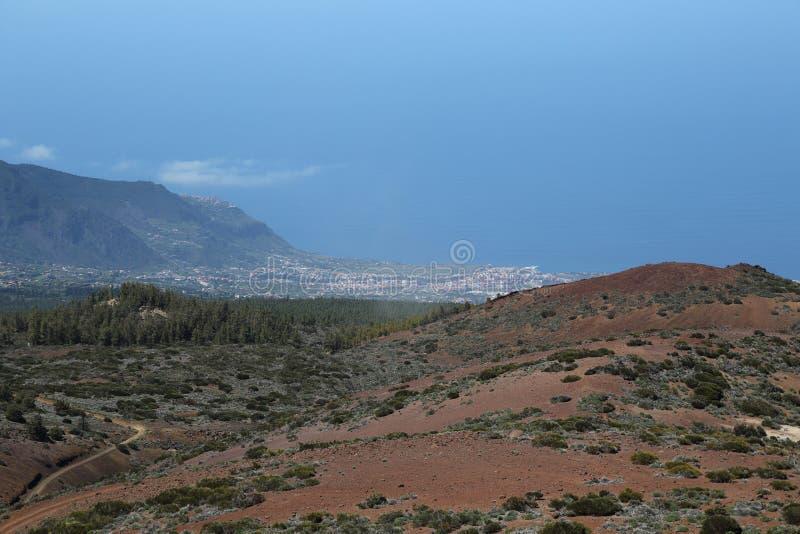 Vista da montagem Teide foto de stock royalty free
