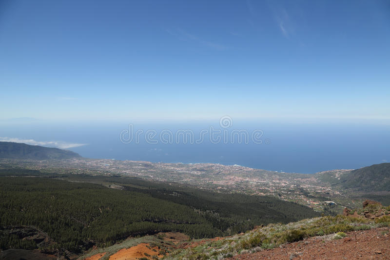 Vista da montagem Teide fotos de stock