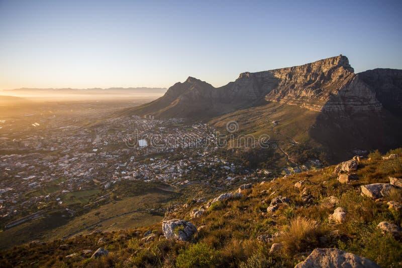 Vista da montanha Capetown África do Sul da tabela foto de stock