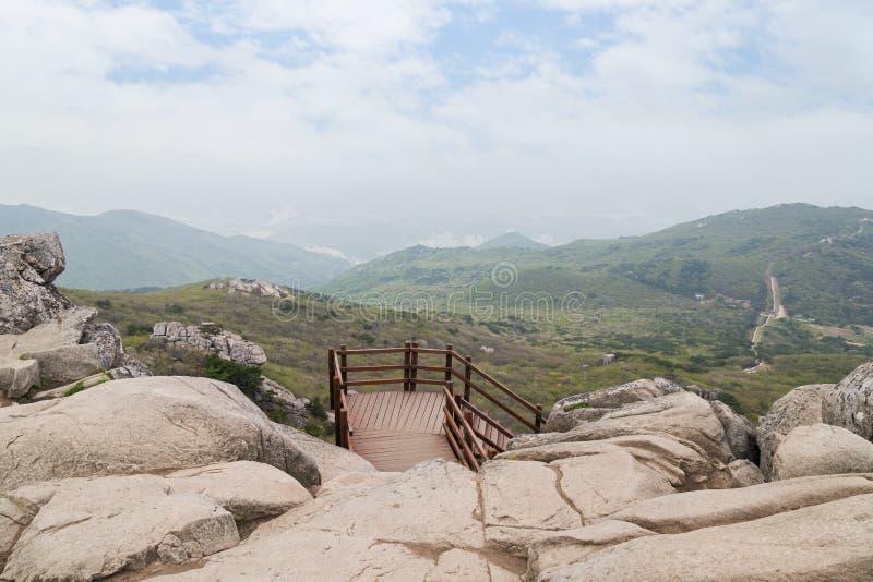 Vista da montanha de Geumjeongsan em Busan fotos de stock