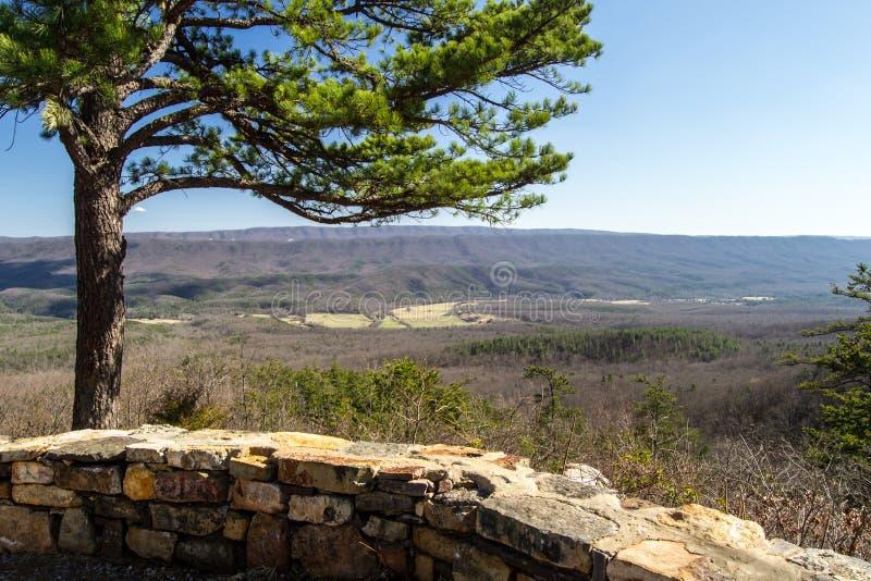 Vista da montanha de Potts, Virgínia imagens de stock