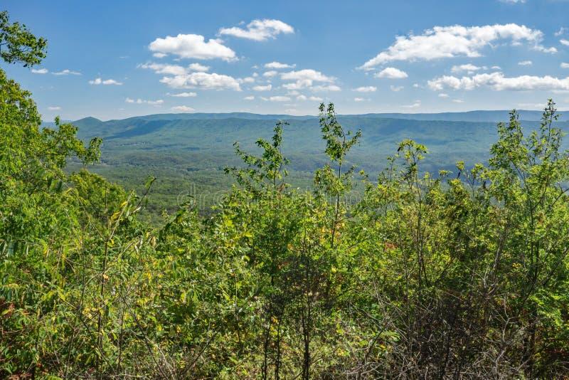Vista da montanha de Potts, Virgínia, EUA imagem de stock