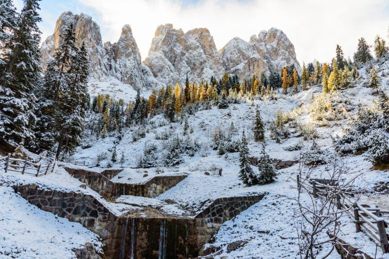 Vista da montanha do odle fotos de stock royalty free