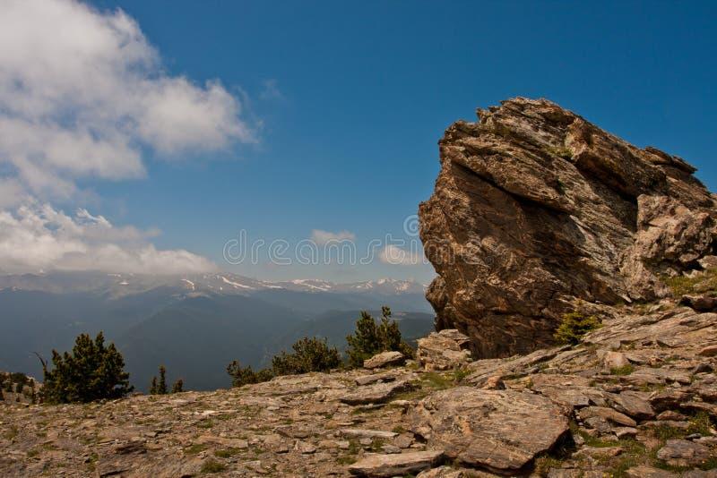 Vista da montanha principal, Colorado fotografia de stock